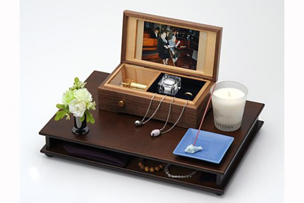 自宅墓マイメモリー&音水晶(飾り例)